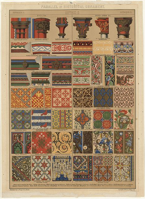 Parallel of Historical Ornament, Gothic II by Boston Public Library, via Flickr