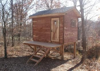 Enclosed Deer Stands | ... Cabin Kits > 8' x 12' Enclosed Hunting Cabin and Deer Stand Kits