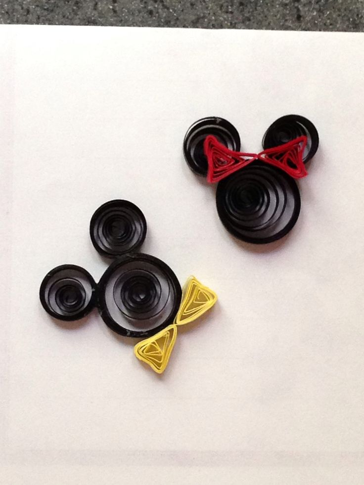 Quilled Mickey and Minnie - 2013