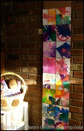 Salad spinner art. I love the display! This blogger inspires me always:)