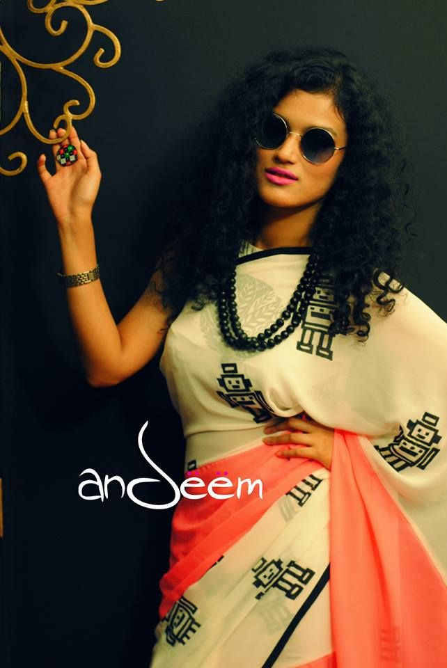 Love! Andeem : retro, quirky saree from Bangladesh