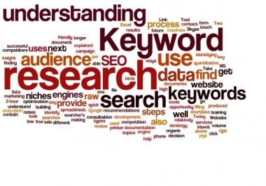 do website keywords research with full Seo report