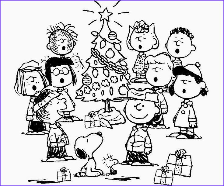 13 Inspirational Snoopy Christmas Coloring Pages
