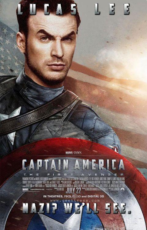 Scott Pilgrim's Lucas Lee as Captain America