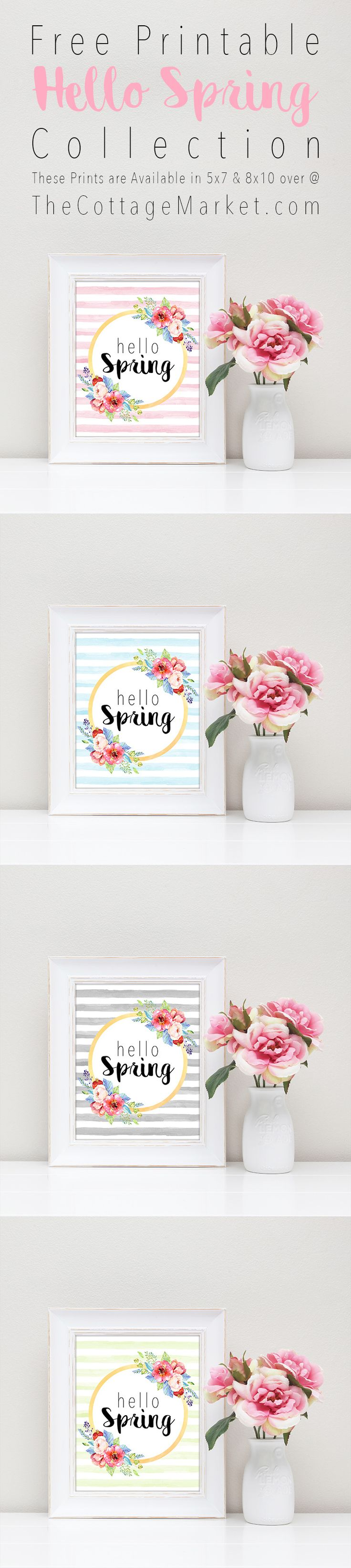 Guess what?  Yep…you are right…it is once again FREE PRINTABLE FRIDAY!!!  SPRING is on it's way…yes it is even though it is snowing here today in Sunny New Jersey!  So in honor of this glorious Season…today's free printable simply says Hello Spring…surrounded by gorgeous blooms!  We know that many of you like to get the …
