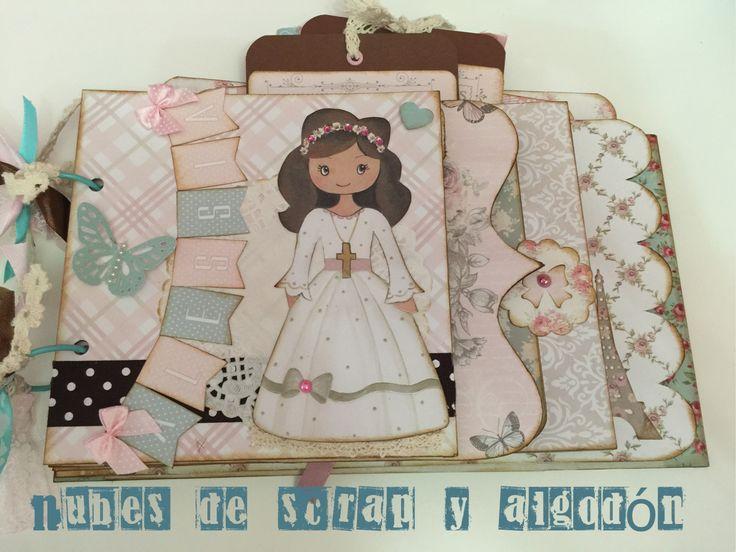 Álbum de comunión Alessia by Nubes de Scrap y Algodón
