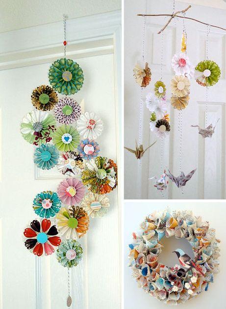 Paper wreath with bird