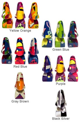 Picasso nose eyeglass holders keep your glasses handy! Choose from these colorful styles, they make great art gifts for art lovers and artist!