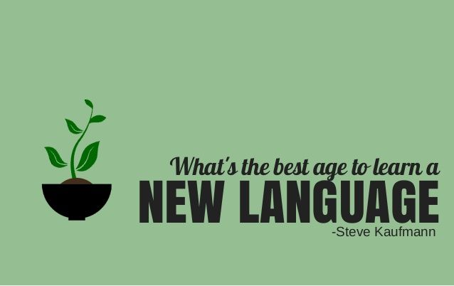 What's the Best Age to Learn a New Language? #LingoSteve #LingQ #LearnLanguages #SlideShare