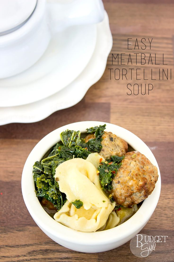 Meatball Tortellini Soup is a savory soup, filled with kale and turkey meatballs. It's quick and easy to make, as well!