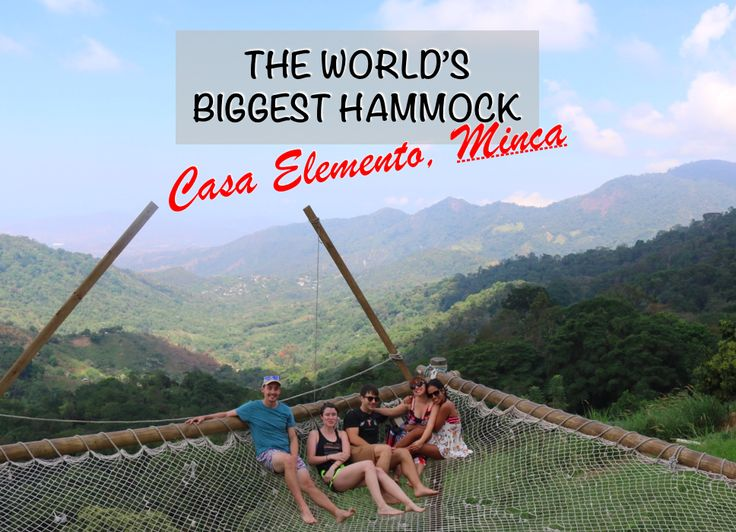 """Ever hear of Minca and its proclaimed """"world's biggest hammock?"""" Prepare yourself for the hype ahead of time and consider an alternative itinerary.  #colombia #minca #worldslargesthammock #hammock #casaelemento"""