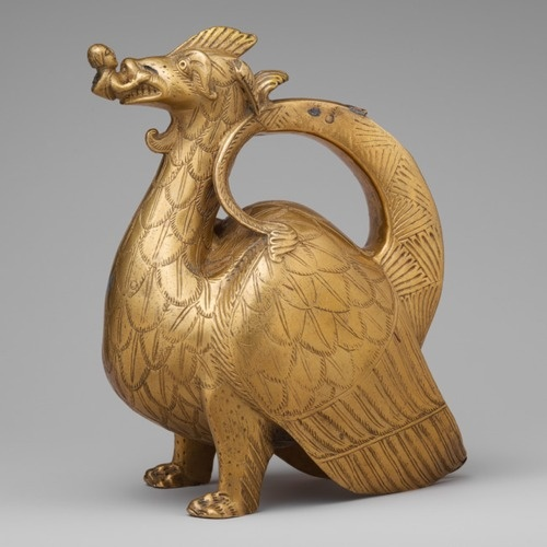 Aquamanile (water vessel used for washing hands) in the form of a dragon. North German, ca. 1200.