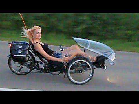 HP Velotechnik Scorpion E-Trike mit Tretkurbelantrieb - Moni macht Probefahrt - YouTube
