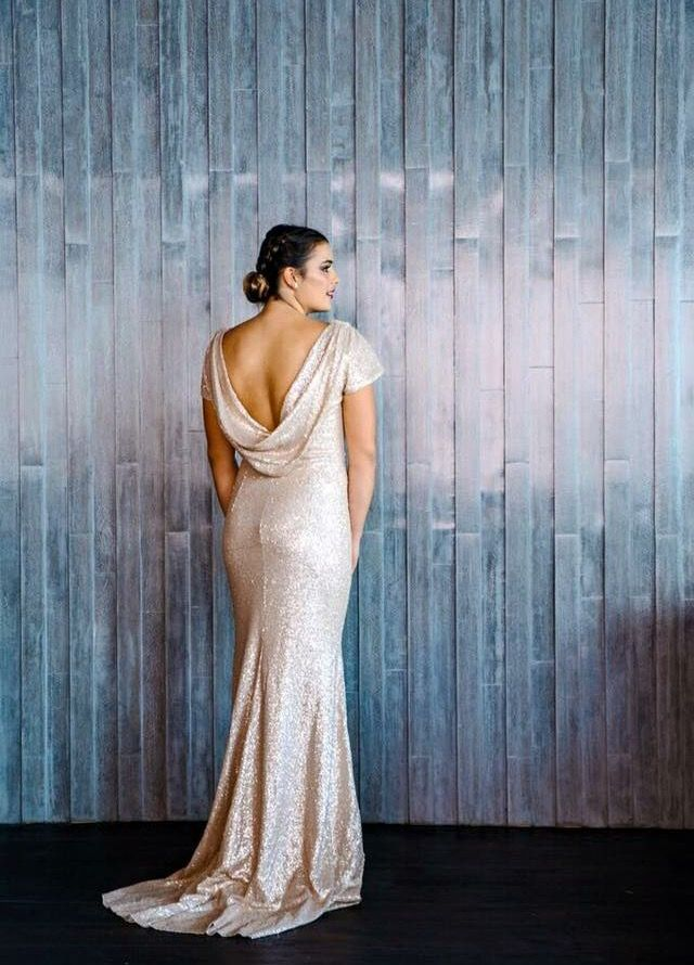 Sequin Gowns. What is not to love. Let your bridesmaids shine. Jadore Gowns are available to try on in Perth at Nora and Elle Bridesmaids.
