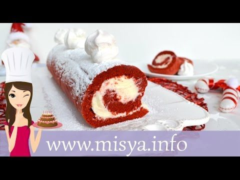 Rotolo red velvet, la ricetta di Misya - YouTube