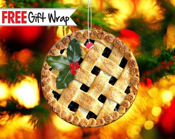 Warm Cherry Pie Christmas Printed Aluminum Christmas ...