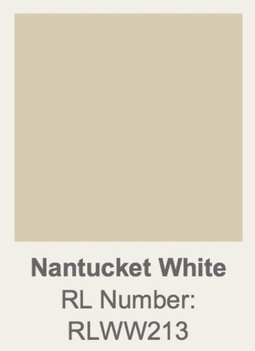 Nantucket White Ralph Lauren Home Paint Colors Pinterest And