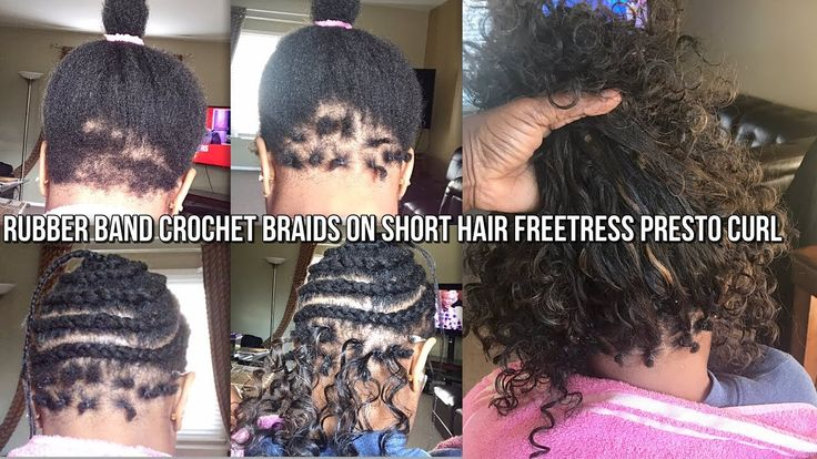 How To Rubber Band Method Crochet Braids On Very Short Hair Freetress Very Short Hair Short Crochet Braids Short Hair Styles