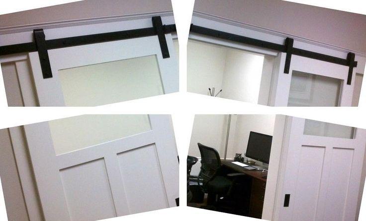 Glass pocket doors double sliding interior barn doors