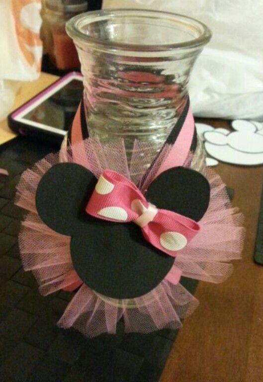 Minnie Mouse centerpiece - Envase para centro de mesa ...