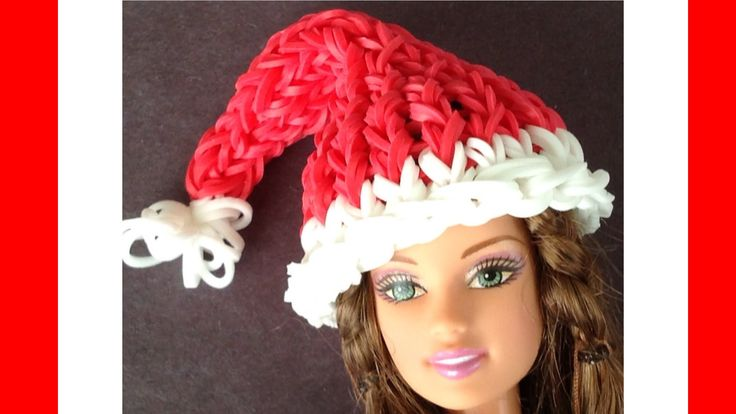 Barbie Doll Rainbow Loom Santa Hat Charm. This is wearable for your Barbie Doll and made with Loom bands on the Rainbow Loom. Thanks for watching! Subscribe ...