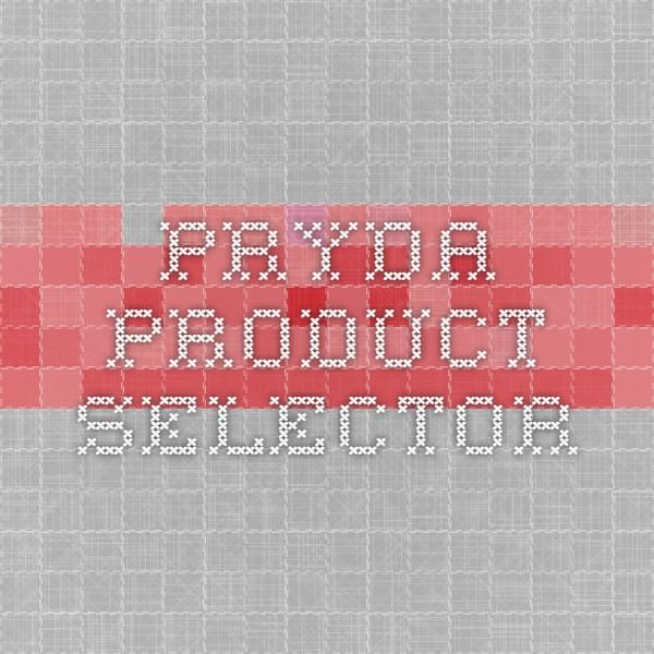 Pryda Product Selector