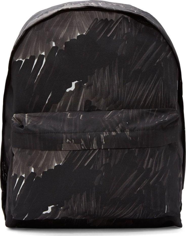 Black Nylon Marker Camo Olov Backpack by Acne Studios