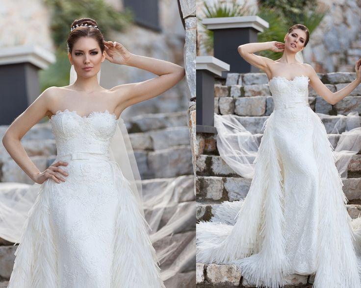straplez, askısız gelinlik modelleri 2016-a kesim straplez gelinlikler-nova bella nişantaşı