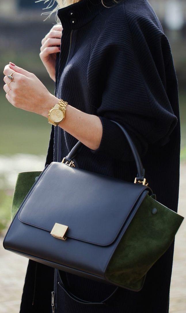 celine trapeze bag | A r m  C a n d y | Pinterest | Celine, Green ...