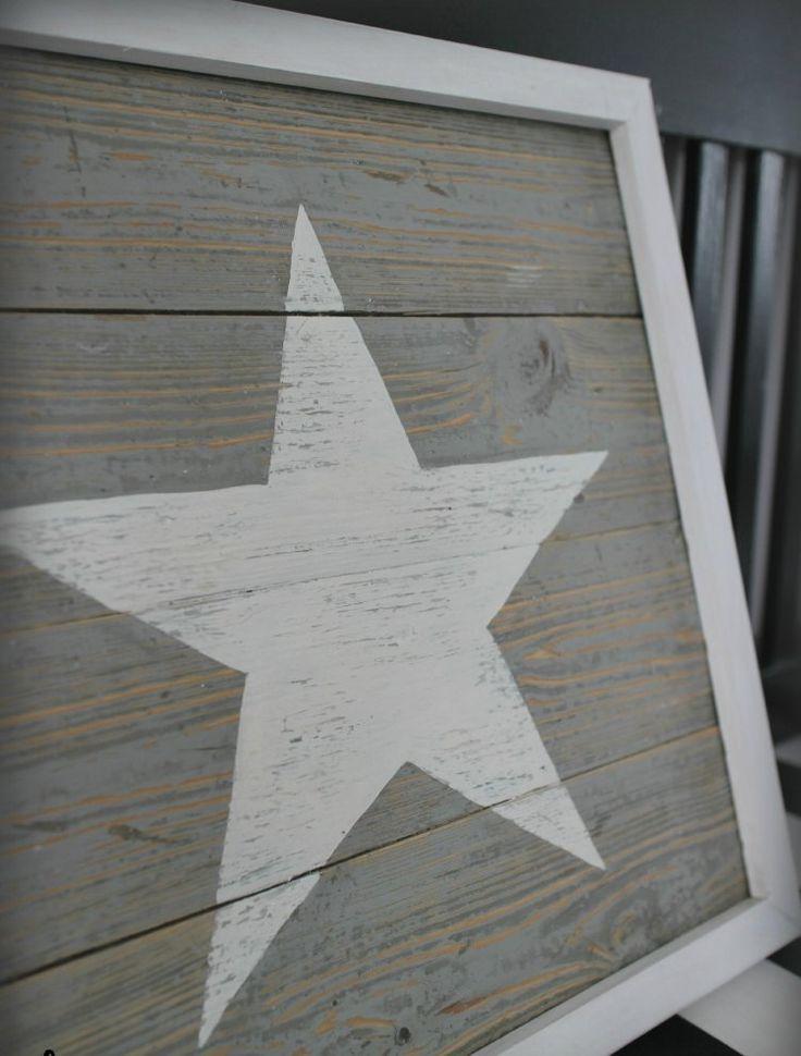 selbst gemachtes Bild mit weißem Stern