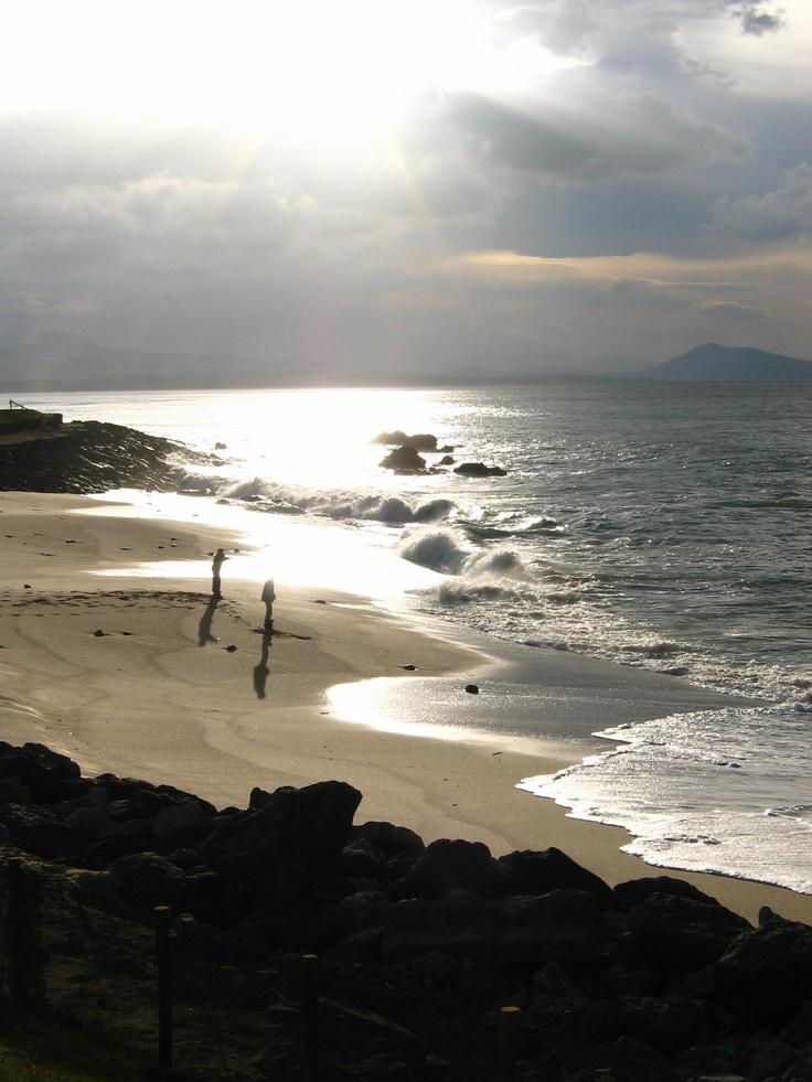 Coucher de soleil, Bidart, Côte basque.
