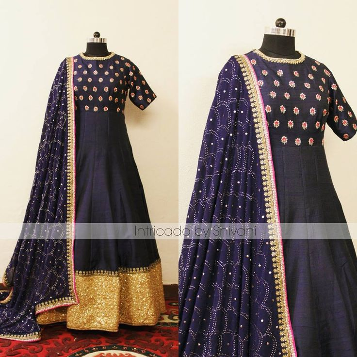 Beautiful zardozi and sequins embroidered raw ailk anarkali with heavy mukaish work dupatta.  For enquiry/order, shivani@intricado.com or Inbox on Facebook page www.facebook.com/intricado or Whatsapp:- +91 8527463626  #sequins #couture #anarkali #blueanarkali #indianbridal #indianwedding #indiancouture #indianethnic #wedding #indianbride #delhiwedding #hinduwedding #punjabiwedding #fashionblogger #indianfashionblogger #indiandesigner #delhi #indianjewellery #intricadobyshivani #desibride…