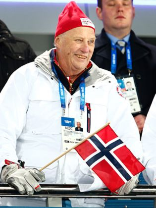 King Harald V of Norway celebrates his 77th Birthday in Sochi, Russia, on 21 February 2014. He was born in 1937.