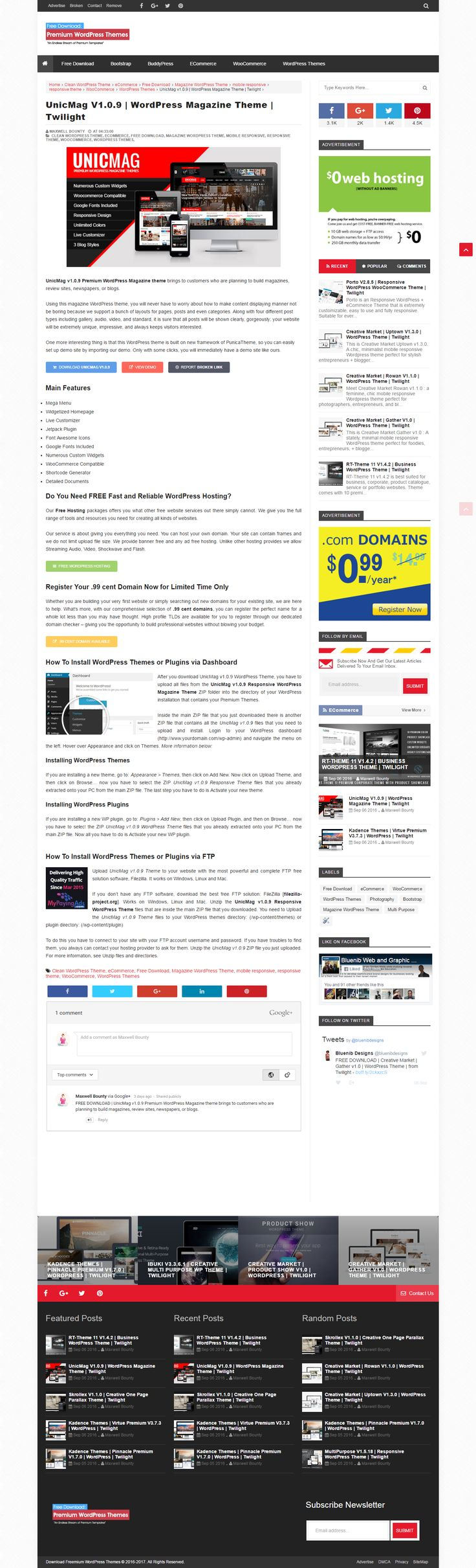 Themes for gmail account free download - Free Download Unicmag V1 0 9 Premium Wordpress Magazine Theme Brings To Customers Who Are
