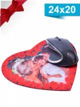 podložka pod myš ve tvaru srdce