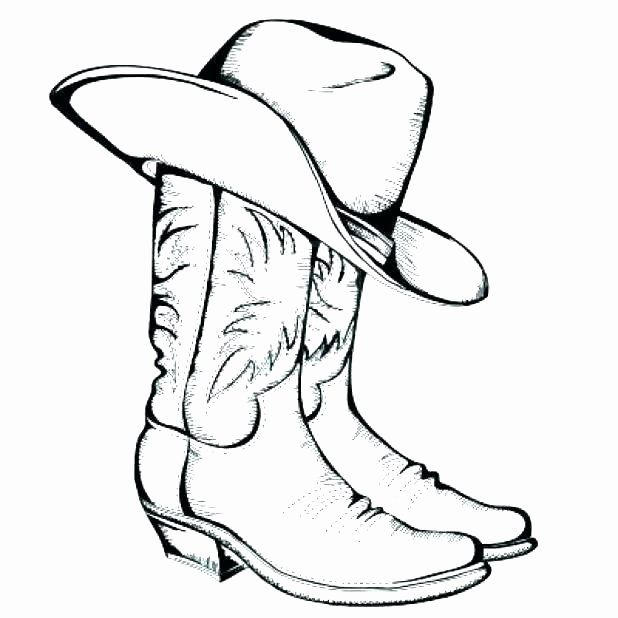 Cowboy Hat Coloring Page Fresh Cowboy Hat Coloring Page At Getcolorings In 2020 Cowboy Boots Drawing Cowboy Boots Coloring Pages Inspirational