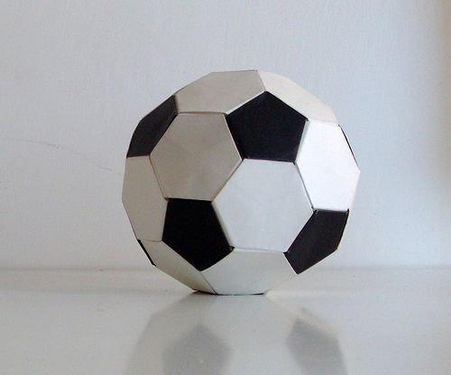 Origami Soccer Ball with Video Instructions tutorials origami   from the storeroom @ POTW