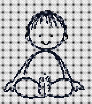 This simple and free cross stitch chart for nursery got deleted when I got my own domain. You can stitch it along with baby girlas part of the set or maybe just this.
