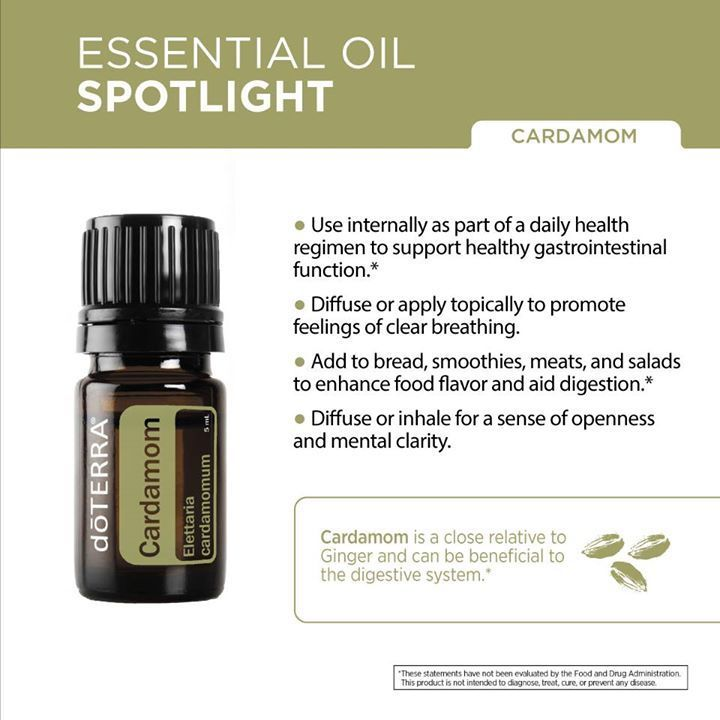 It's Cardamom week! Join us this week on social media as we share all things Cardamom. Did you know that Cardamom promotes clear breathing and maintains respiratory health?* #cardamomweek Click here to learn more about Cardamom essential oil