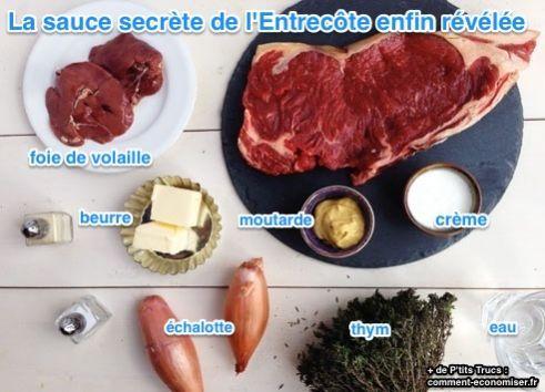 """Enfin la Recette de La Sauce Secrète des Restaurants """"L'Entrecôte"""" est dévoilée."""