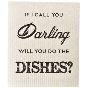 If I call you darling will you do the dishes? | dishrag by Lagerhaus