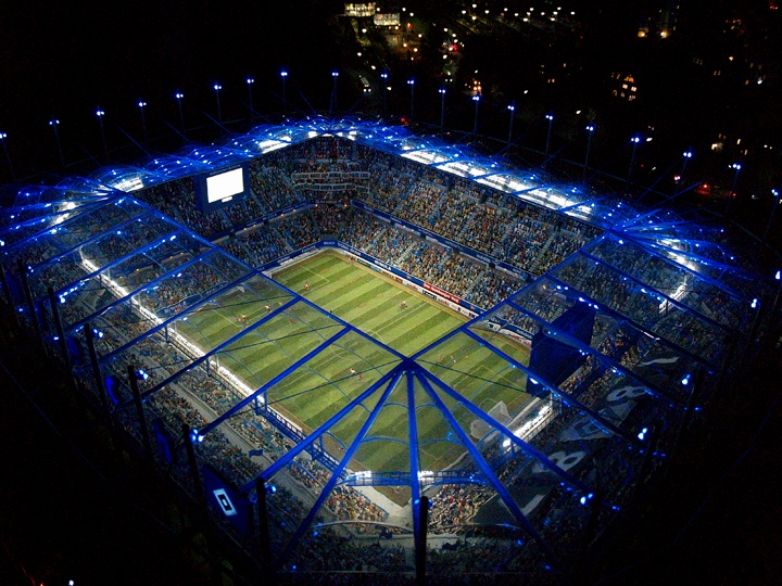 Hamburger SV: Stadium Model Of The German Soccer Team 'HSV Hamburg