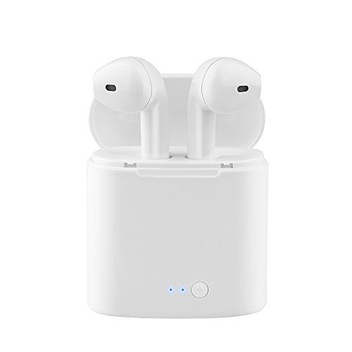 Bluetooth Earbuds Wireless In-Ear Headphones Hands Free Noice Cancelling Headset with Portable Charger for Apple airpods iphone X 8 8plus 7 7 plus 6s Samsung Galaxy S7 S8 IOS Android Smart
