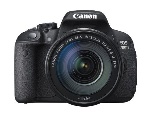 "Canon EOS 700D Digital SLR Camera and 18-135mm EF-S IS STM Lens (Black) - International Version (No Warranty). 18.0 Megapixel Hybrid CMOS AF sensor. Creative Full-HD movies and Hybrid CMOS AF. Vari-angle 3.0"" Clear View LCD II Touch screen, Scene Intelligent Auto. ISO 100-12800 sensitivity, expandable to ISO 25600, 7 Creative filters with live preview. 5 fps shooting 9-point AF system, EOS System of lenses and accessories."