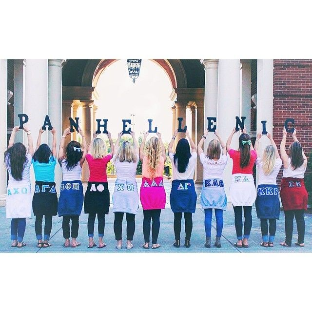 THIS IS MY SCHOOL! Panhellenic at Oregon State University and Chantel repping AOII! Super cute Panhellenic photo!
