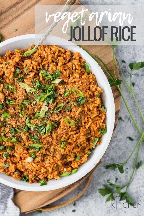 Vegetarian Jollof Rice Recipe Jollof Rice Easy Rice Recipes Vegetarian Rice Recipes