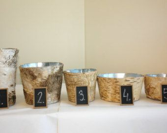 This listing is for birch wood vase/flower pot (flowers are NOT included ). The pot /vase is made of natural birch bark. it measures approximately 6 ( 14.5 cm) tall, 6-7(15.5-17cm) long, 4(9.5cm) wide. This would be a wonderful addition for home decor, party or wedding centerpieces. (you can use fresh flowers in this vase see pictures #4, #5) Need more than 5 of those, just send me convo, I can do custom listing.  If you like my flowers arrangement with lily of the valley please cli...