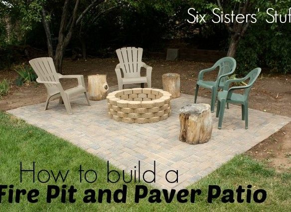 How To Build A Fire Pit And Paver Patio Tutorial (plus A Video Tutorial!