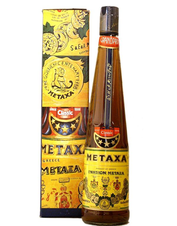 Metaxa is distinguished as the most famous Greek spirit worldwide. Silk trader Spyros Metaxas invented the drink and in 1882 he built a distillation factory in the city of Chyphisia. Above are a few packaging designs from Metaxa, which are elaborately decorated with typical Greek art and design.