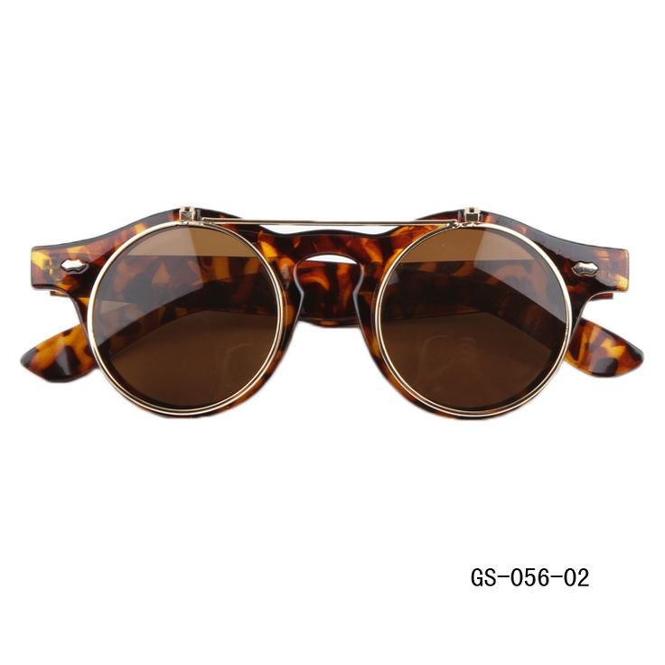 Round Flip Up Sunglasses - These vintage retro flip up sunglasses are now in fashion! Get yours today!